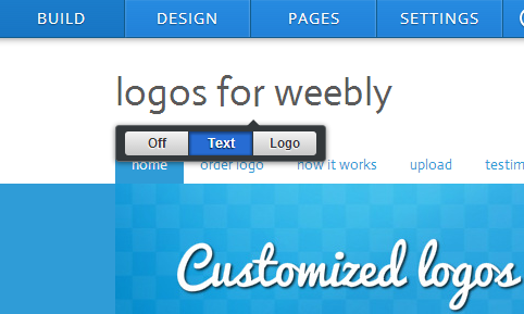 logo upload weebly